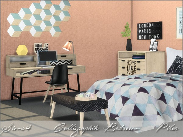 Simcontrol Calligraphik Bedroom By Pilar Sims 4 Downloads