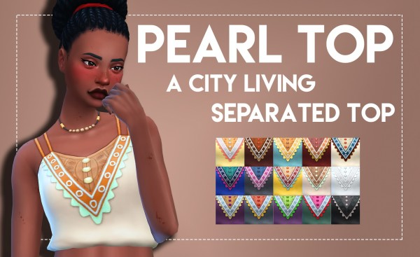 Simsworkshop: Pearl Top   City Living Separated Top
