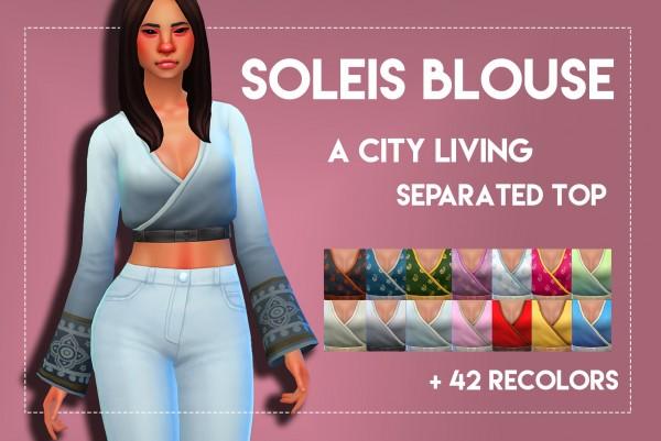Simsworkshop: Soleis Blouse by Weepingsimmer