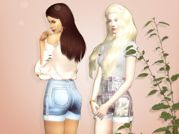 The Sims Resource Reckless Shorts By Serenity Cc Sims 4