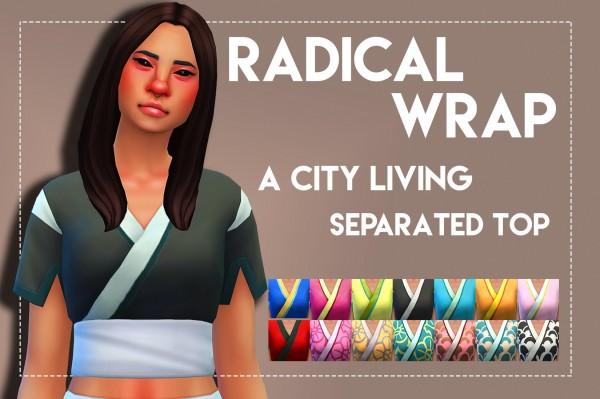 Simsworkshop: Radical Wrap top by Weepingsimmer