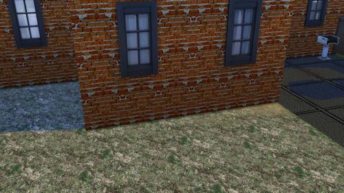 La Luna Rossa Sims: Brick layered walls