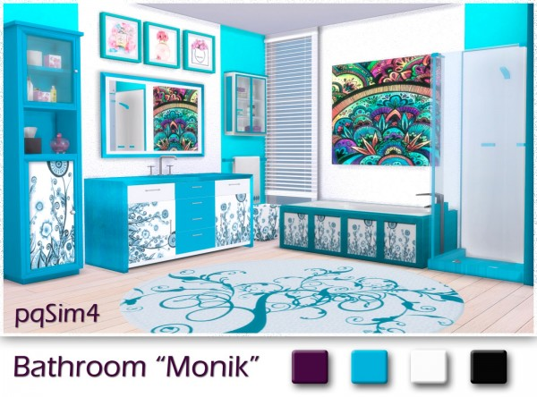 PQSims4: Bathroom Monik