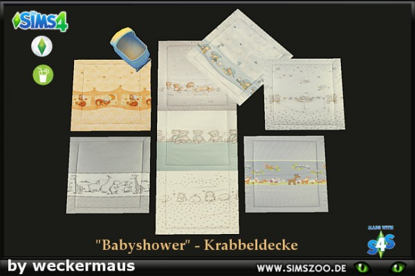 Blackys Sims 4 Zoo: Babyshower   Crawling blanket by weckermaus