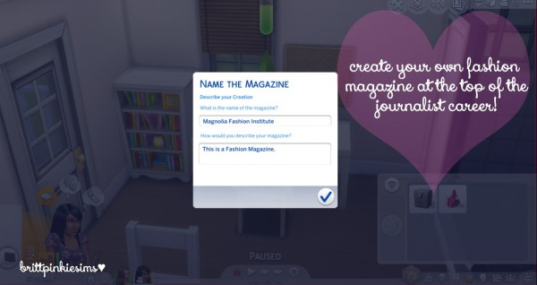 Brittpinkiesims: Fashion Career Mod