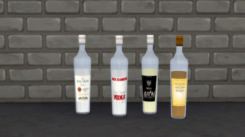 La Luna Rossa Sims Bottle Of Alcohol Sims 4 Downloads