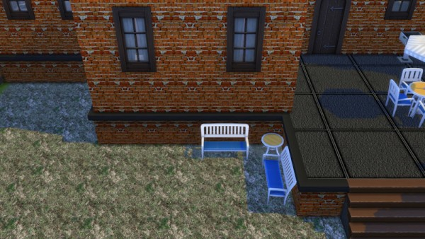 La Luna Rossa Sims: Brick Layered Foundation and Wall