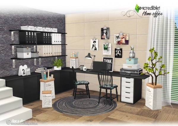 SIMcredible Designs: Home office • Sims 4 Downloads