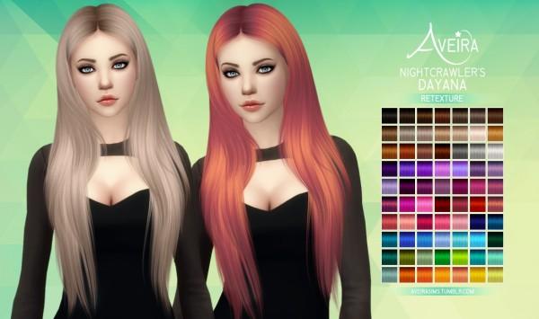 Aveira Sims 4: Nightcrawler's Dayana   Retexture