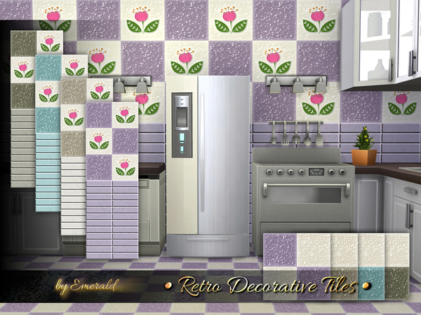 The Sims Resource: Retro Decorative Tiles by emerald