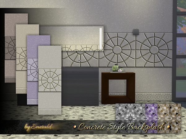 The Sims Resource: Concrete Style Backsplash by emerald