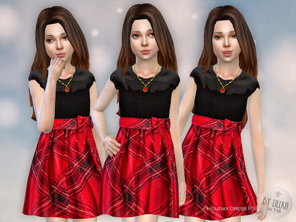 The Sims Resource: Holiday Dress P3 by lillka