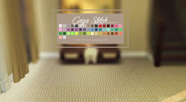 Onyx Sims: Gaza Stitch Carpeting