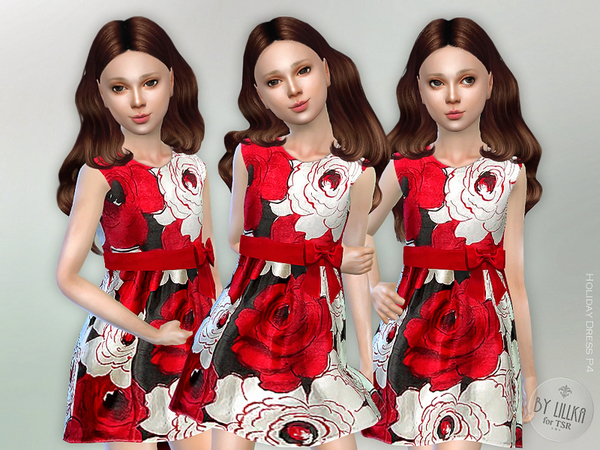 The Sims Resource: Holiday Dress P4 by lillka
