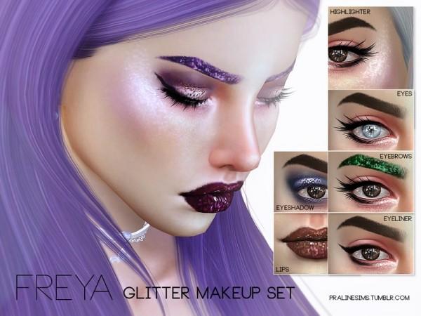 The Sims Resource Freya Glitter Makeup Set By Pralinesims