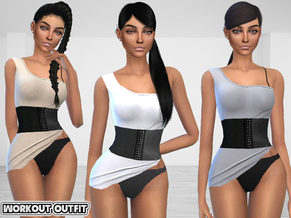 The Sims Resource: Workout Outfit by Puresim