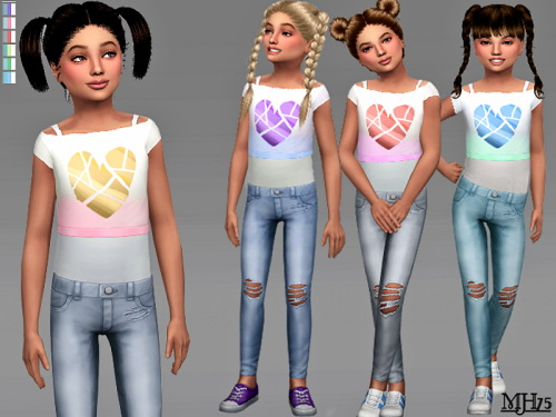 Sims Addictions: Heart Outfit CF