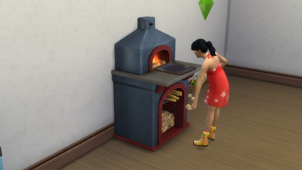 Mod The Sims: Montevista wood fire oven  with animated fire by necrodog