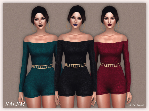 The Sims Resource: Valeria Playsuit by SalemC