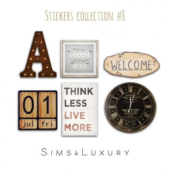 Sims4Luxury: Stickers Collection 8