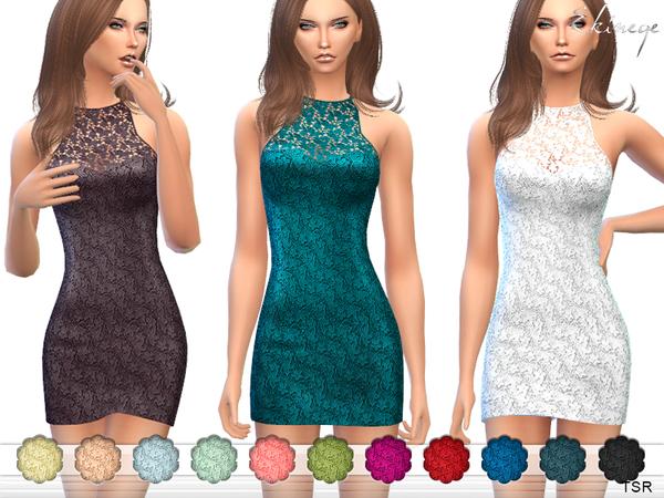 The Sims Resource: Lace Mini Dress by ekinege