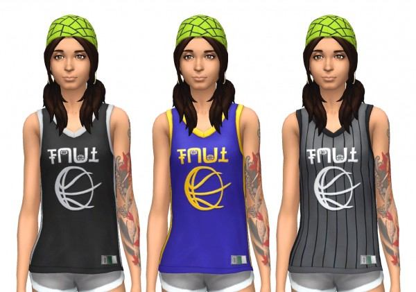 Mod The Sims City Living Female S Basketball Jersey