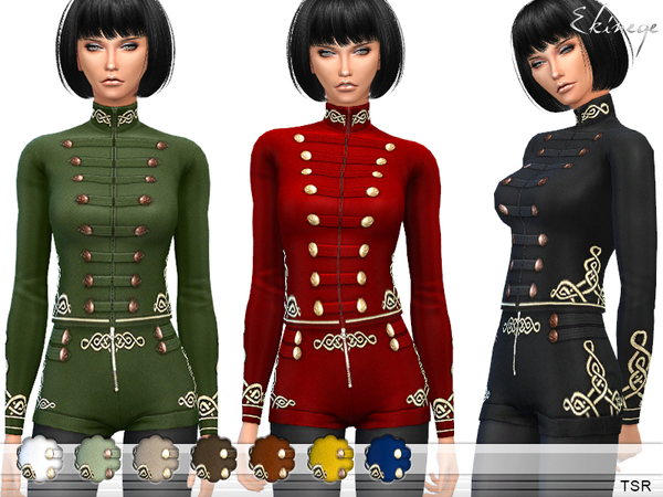 The Sims Resource: Military Jacket by ekinege