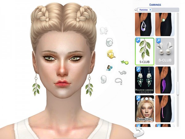 The Sims Resource: Earring N4F by S Club
