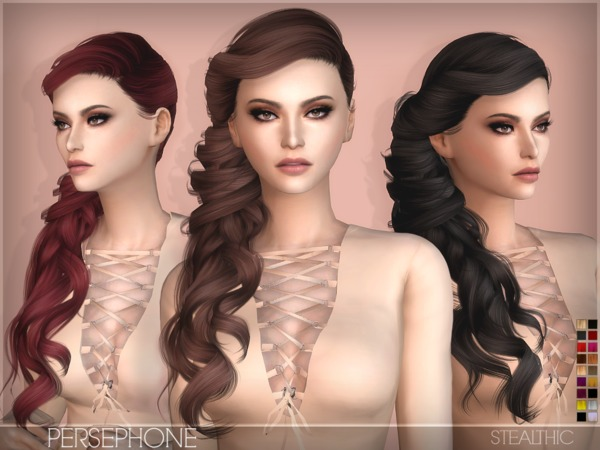 The Sims Resource: Stealthic`s Persephone Female Hair