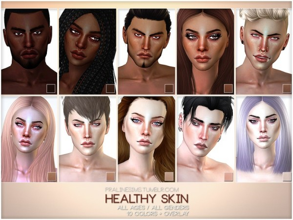 The Sims Resource: PS Healthy Skin by Pralinesims
