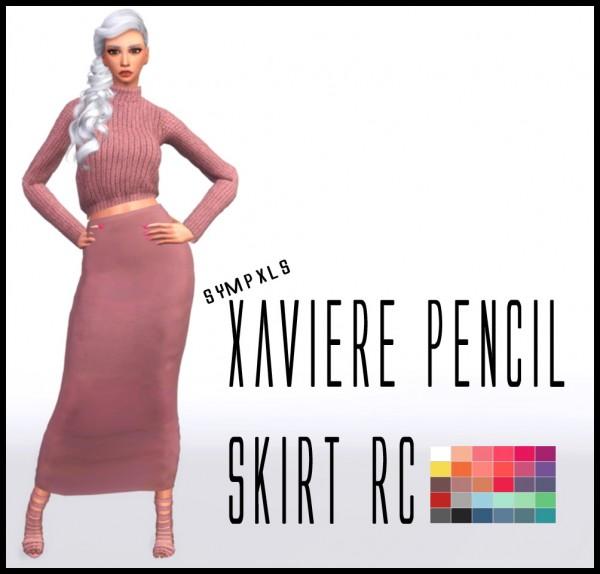 Simsworkshop: Xaviere Pencil Skirt by Sympxls