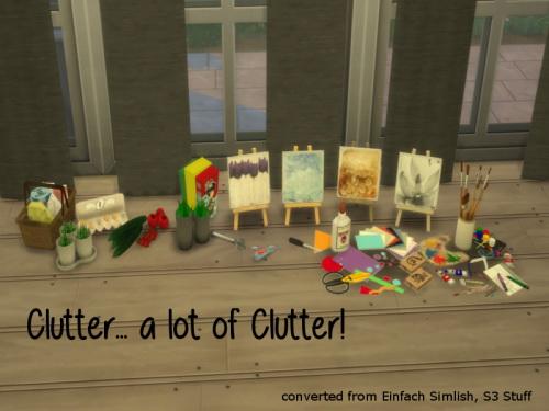 Chillis Sims: Clutter set