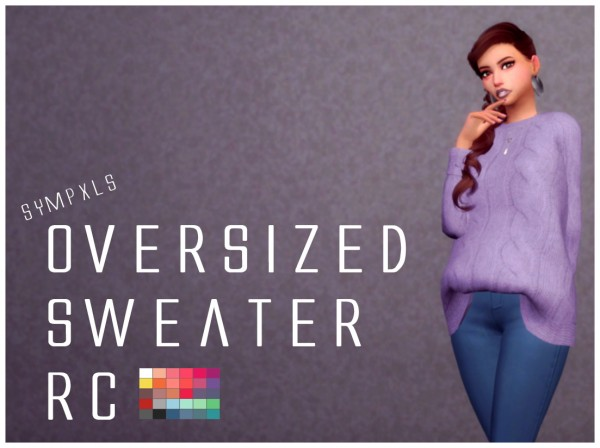 Simsworkshop: Oversized Sweater by Sympxls