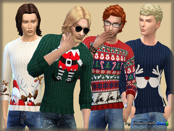The Sims Resource: Sweater Merry Christmas by bukovka