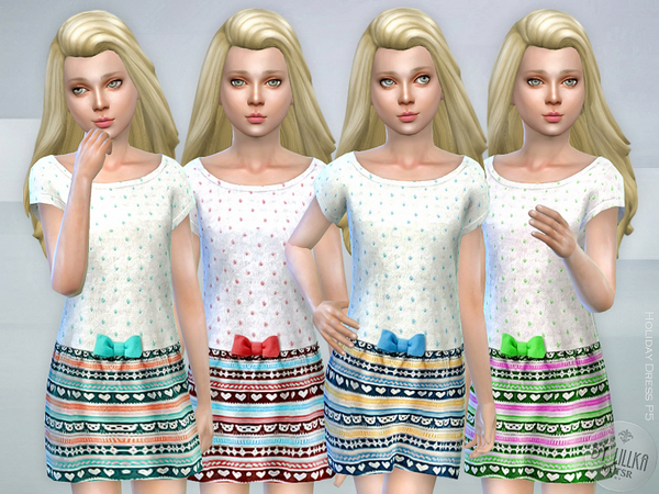 The Sims Resource: Holiday Dress P5 by lillka