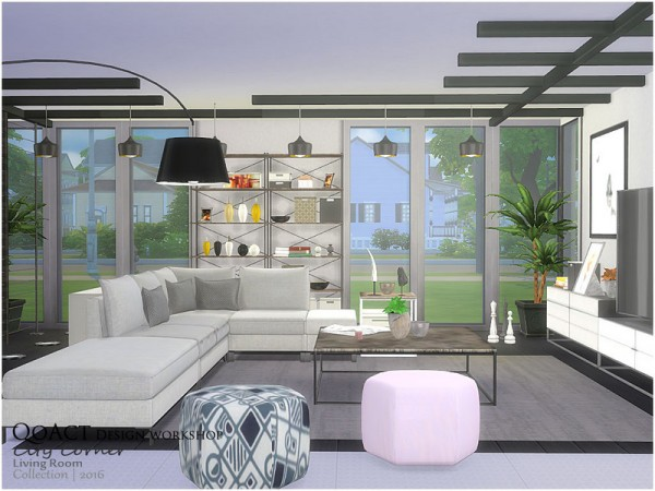 The Sims Resource: City Corner Living Room by QoAct