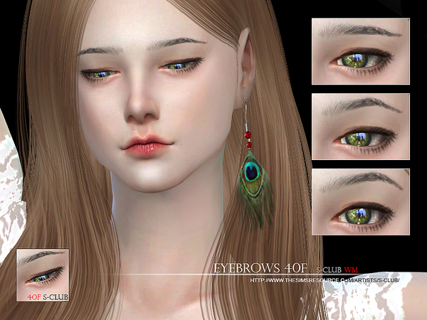 The Sims Resource: Eyebrows 40F by S Club