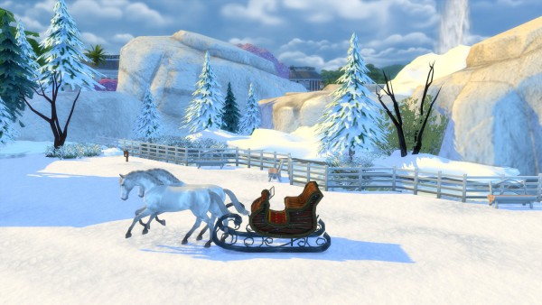 Mod The Sims: Winters Dream Park and Ice Cave by Snowhaze