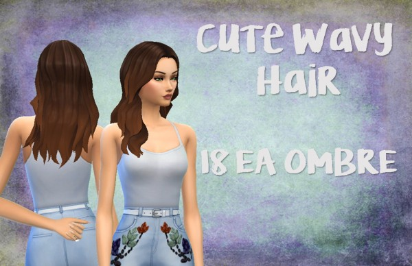 Choco Sims: Cute wavy hair