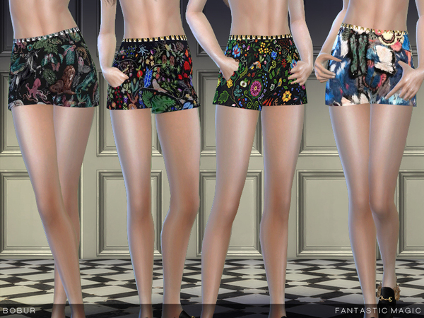 The Sims Resource: Fantastic magic shorts by Bobur