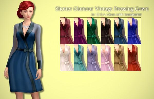 Tukete: Shorter Vintage Glamour Dressing Gown