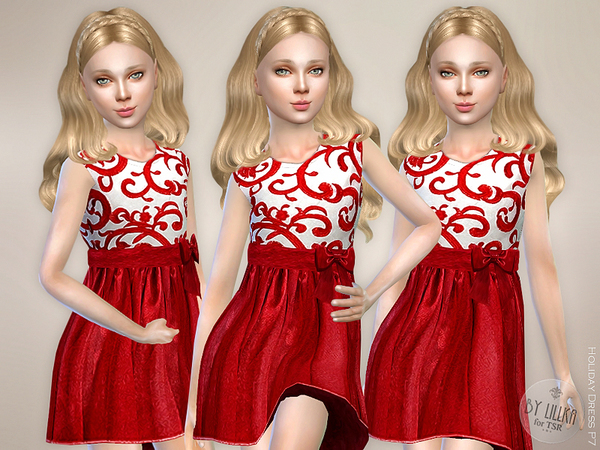 The Sims Resource: Holiday Dress P7 by lillka