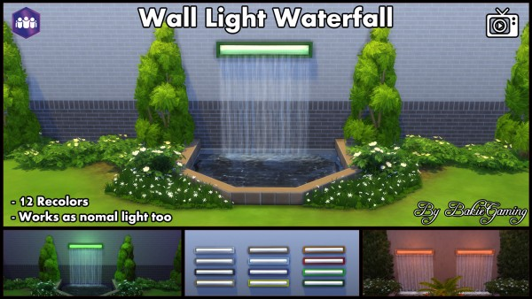 Mod The Sims: Wall Light Waterfall by Bakie