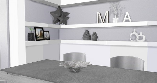 Caeley Sims: Modern White Kitchen