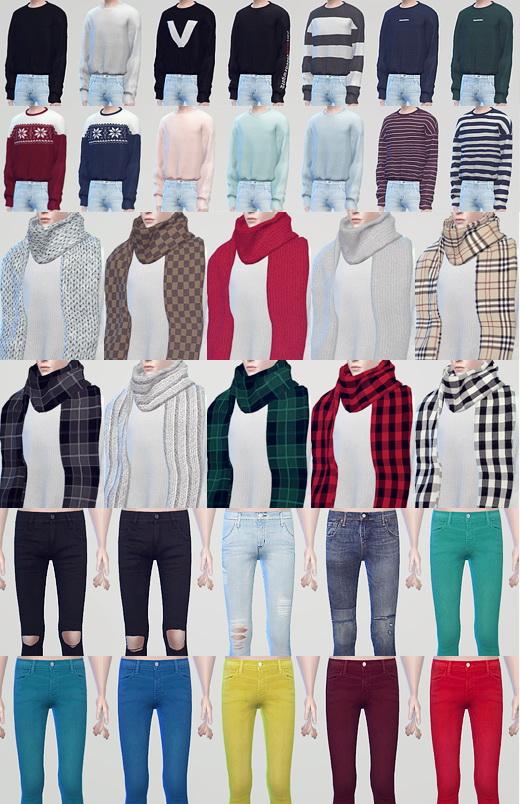 kk sims: Winter Gift   long sleeve shirts