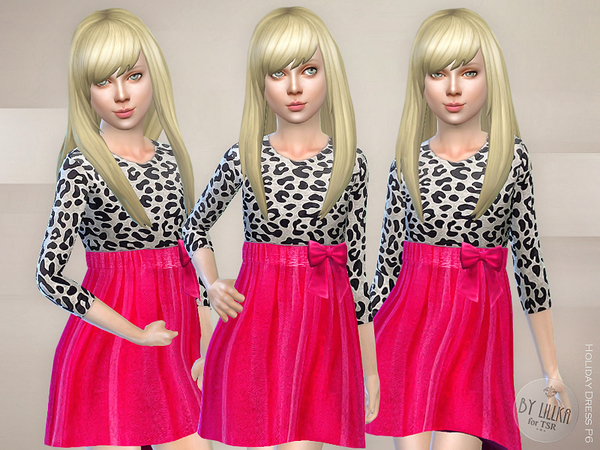 The Sims Resource: Holiday Dress P6 by lillka