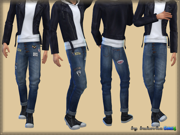 The Sims Resource: Jeans & Patches by Bukovka