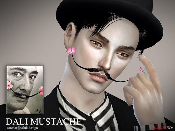 The Sims Resource: Dali mustache 3D by S Club