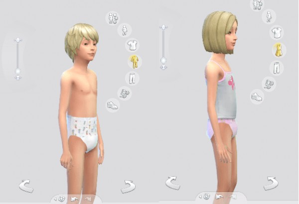 Mod The Sims: Diapers for Children by anoncrinkle