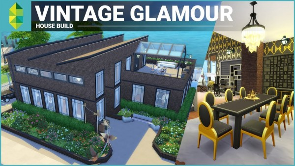 The Sims: 5 Great Vintage Glamour Speed Builds!